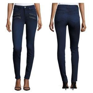 Paige Edgemont Black Skinny Jeans Zipper Pocket 25